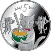 猫の銀貨 裏