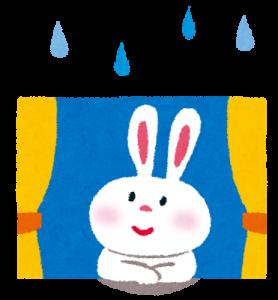 雨が降っています。