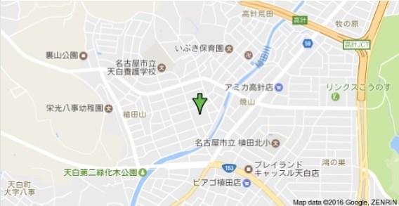 植田北住宅近辺地図
